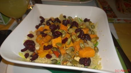 Sweet potatoes and quinoa salad
